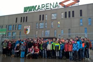 Ausflug der JFG Pfaffenwinkel zum FC Augsburg